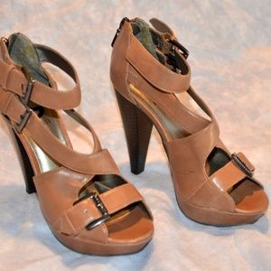 G by Guess open toe heels size 5 M